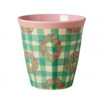 RICE melamine cup vichy print