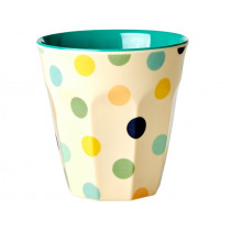 RICE Melamine Cup GREEN DOTS