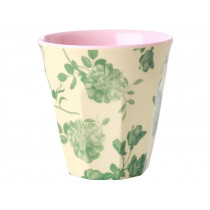 RICE Melamine Cup GREEN ROSE