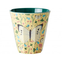 RICE Melamine Cup BUTTERFLY PRINT CREME