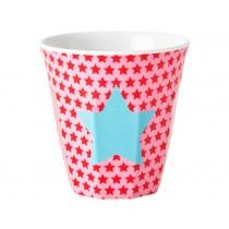 RICE kids melamine cup red stars