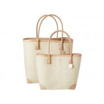 RICE Raffia Shopping Bag Natural