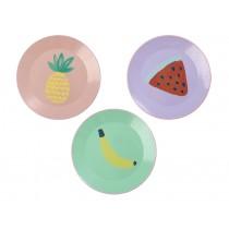 RICE Enamel Lunch Plate Tutti Frutti