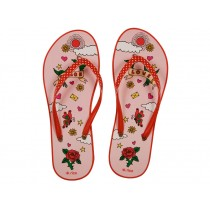 Flip Flop with pink peace and love print by RICE