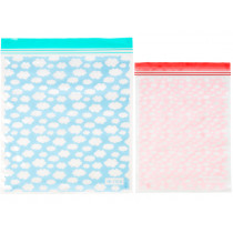 RICE Set of 20 Zipper Bags in 2 Sizes CLOUDS