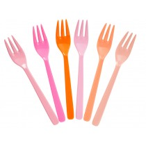 RICE cake forks pink and orange colours