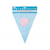 RICE Happy Birthday paper flag banner