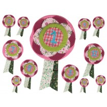 RICE birthday rosette for girls