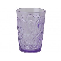 RICE Tumbler in Swirly Embossed Acrylic Lavender