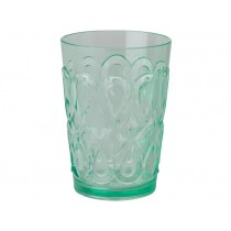 RICE Tumbler in Swirly Embossed Acrylic Pastel Green