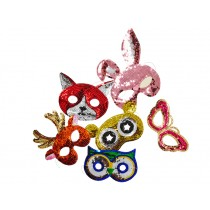 RICE kids sequin animal masks