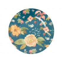 RICE Large Melamine Dinner Plate SELMA'S FALL FLOWERS