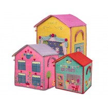 RICE house basket theatre, pink house or ice cream parlour