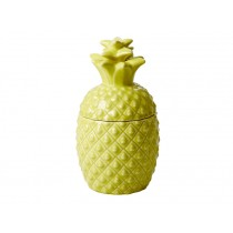 Small RICE ceramic jar pineapple shaped yellow