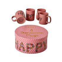 RICE ceramic mugs Happy gift box