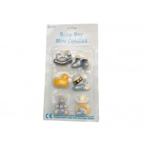 RICE baby candles blue