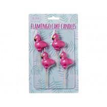 RICE 4 Flamingo Shaped Cake Candles