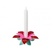 RICE candleholder poinsettia