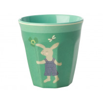 RICE Kids Melamine Cup BUNNY green