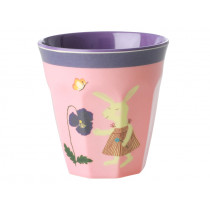 RICE Kids Melamine Cup BUNNY pink