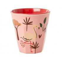 RICE Kids Melamine Cup JUNGLE rose