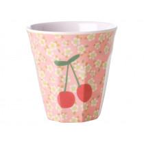 RICE Melamine Cup FLOWERS & CHERRIES