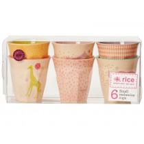 Small RICE cups animal print girl