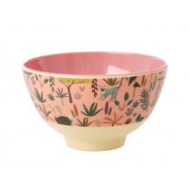 RICE Small Melamine Bowl JUNGLE rose