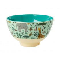 RICE Small Melamine Bowl JUNGLE green