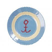 RICE kids bowl sailor stripe with anchor print