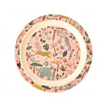 RICE Melamine Kids Plate JUNGLE rose