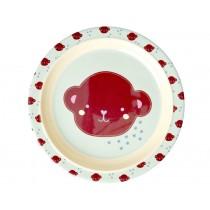 RICE Kids Melamine Plate MONKEYS