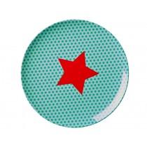 RICE kids melamine plate with stars