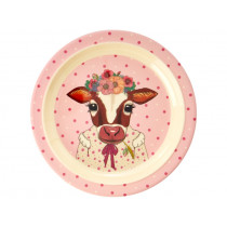 RICE Kids Melamine Plate COW
