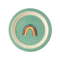 RICE Melamine Kids Plate RAINBOW mint