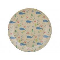 RICE Kids Melamine Lunch Plate OCEAN LIFE