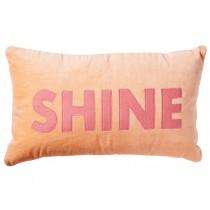RICE Velvet Cushion SHINE coral