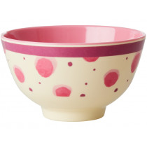 RICE Melamine Bowl Watercolor Splash pink