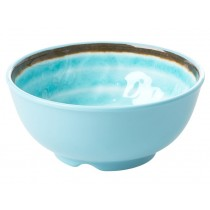 RICE Melamine Bowl with Swirl AQUA small