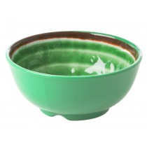 RICE Melamine Bowl with Swirl GREEN small