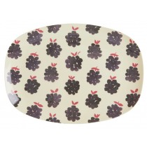 RICE small rectangular plate BLACKBERRIES