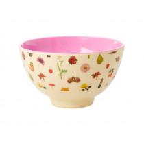 RICE Small Melamine Bowl LIPSTICK FALL
