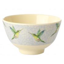 RICE Melamine Bowl HUMMINGBIRD small