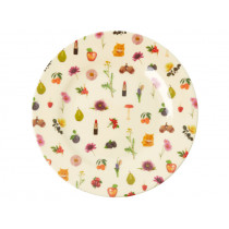 RICE Melamine Side Plate LIPSTICK FALL