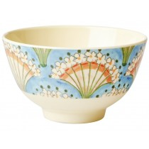 RICE Melamine Bowl FLOWER FAN small