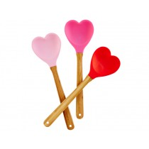 RICE kitchen spatula heart soft pink/fuchsia/red
