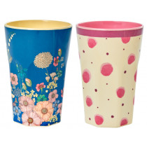 RICE Melamine Latte Cups WATERCOLOR SPLASH-FLOWER