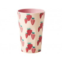 RICE Tall Melamine Cup STRAWBERRIES