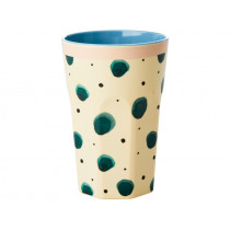 RICE Tall Melamine Cup WATERCOLOR SPLASH