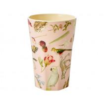RICE Tall Melamine Cup ART PRINT pink